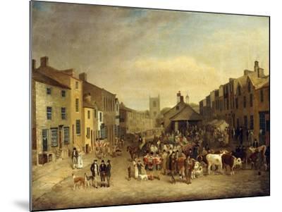 The Skipton Fair of 1830-Thomas Burras of Leeds-Mounted Giclee Print