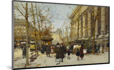 Flower Market-Eugene Galien-Laloue-Mounted Giclee Print