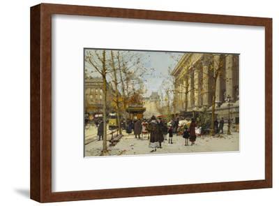 Flower Market-Eugene Galien-Laloue-Framed Giclee Print