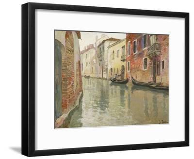 A Venetian Backwater-Frits Thaulow-Framed Giclee Print
