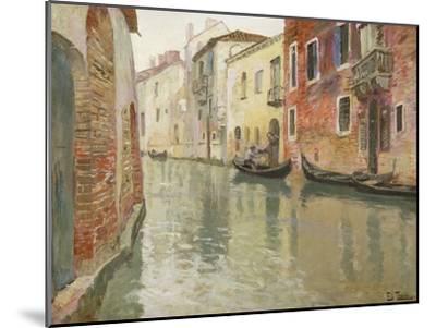 A Venetian Backwater-Frits Thaulow-Mounted Giclee Print