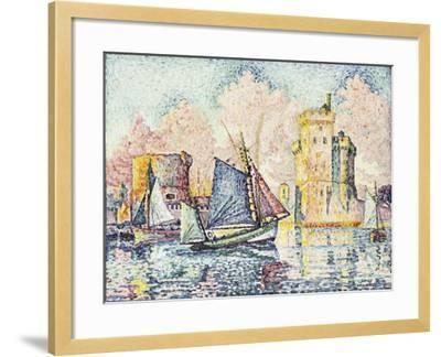 Tuna Boat Entering the Port of La Rochelle-Paul Signac-Framed Giclee Print