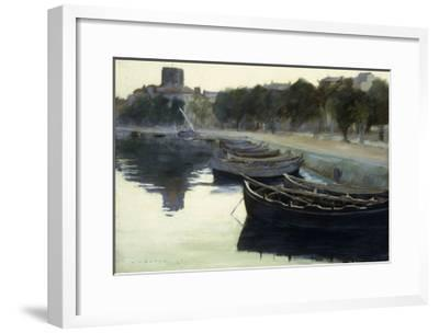Boats at their Moorings-Victor Dupre-Framed Giclee Print