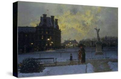 The Evening Promenade-Marcel Lebrun-Stretched Canvas Print