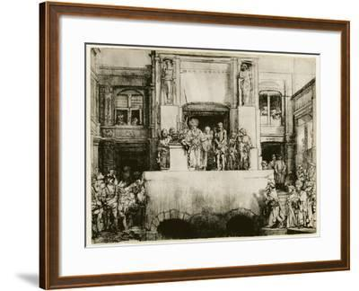Christ Presented to the People--Framed Giclee Print
