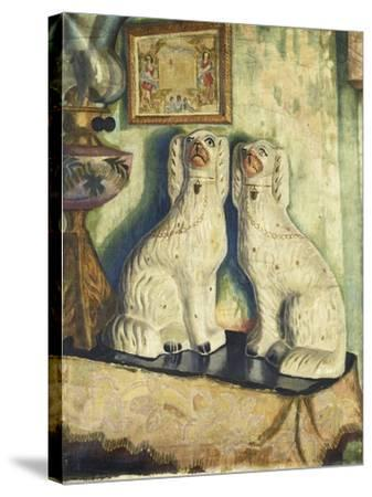 Staffordshire Dogs-Dora		 Carrington-Stretched Canvas Print
