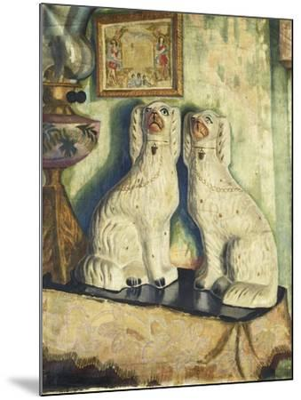 Staffordshire Dogs-Dora		 Carrington-Mounted Giclee Print
