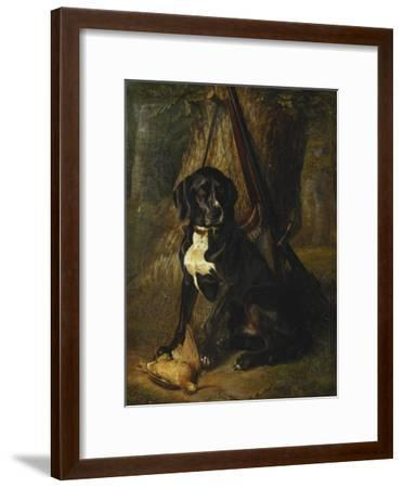 A Gun Dog with a Woodcock-William		 Hammer-Framed Giclee Print