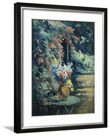 Flowers in a Landscape-Maximilien		 Luce-Framed Giclee Print