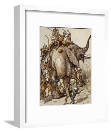 Monkey Capers-Ernest Henry Griset-Framed Premium Giclee Print