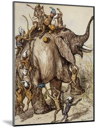 Monkey Capers-Ernest Henry Griset-Mounted Premium Giclee Print