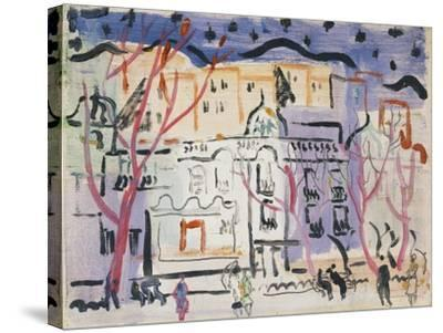 Street Scene, South of France-Christopher Wood-Stretched Canvas Print