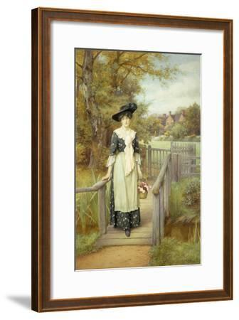 A Country Beauty-Charles Edward Wilson-Framed Giclee Print