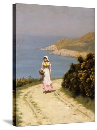 The Cliff Path-Edmund Blair Leighton-Stretched Canvas Print