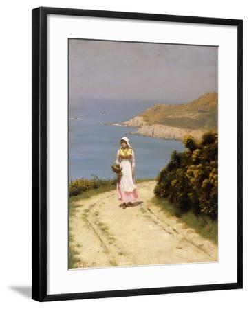 The Cliff Path-Edmund Blair Leighton-Framed Giclee Print