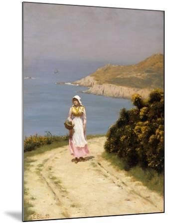 The Cliff Path-Edmund Blair Leighton-Mounted Giclee Print