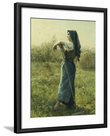 The Harvester-Jules Breton-Framed Giclee Print