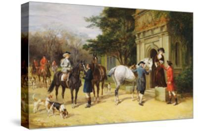 A Helping Hand-Heywood Hardy-Stretched Canvas Print