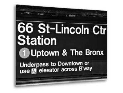 Subway Sign at Times Square, 66 Street Lincoln Station, Manhattan, NYCa-Philippe Hugonnard-Metal Print