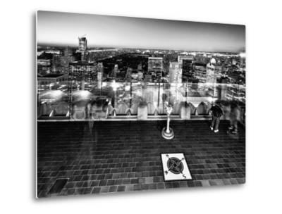 Downtown at Night, Top of the Rock Oberservation Deck, Rockefeller Center, New York City-Philippe Hugonnard-Metal Print