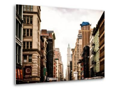 Architecture and Buildings, Urban Scene, 401 Broadway, Lower Manhattan, New York City, Vintage-Philippe Hugonnard-Metal Print