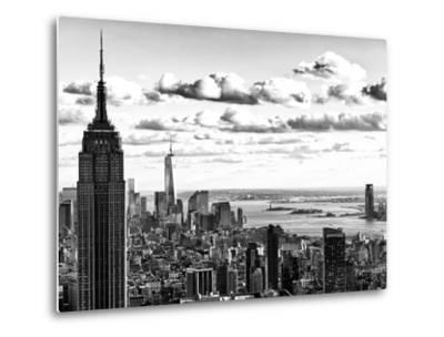 Skyline with the Empire State Building and the One World Trade Center, Manhattan, NYC-Philippe Hugonnard-Metal Print