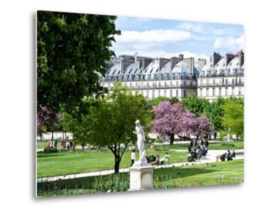 Garden of the Tuileries, the Louvre, Paris, France-Philippe Hugonnard-Metal Print