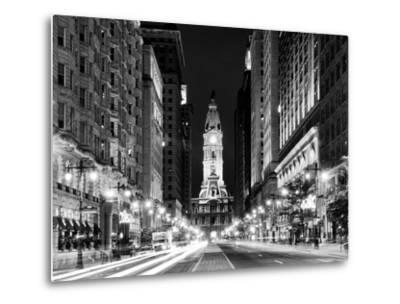 City Hall and Avenue of the Arts by Night, Philadelphia, Pennsylvania, US-Philippe Hugonnard-Metal Print