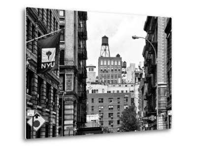 Architecture and Buildings, Greenwich Village, Nyu Flag, Manhattan, NYC-Philippe Hugonnard-Metal Print