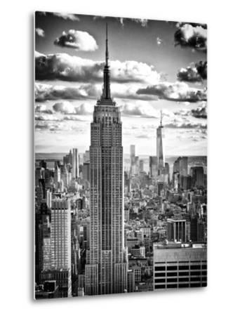 Cityscape, Empire State Building and One World Trade Center, Manhattan, NYC-Philippe Hugonnard-Metal Print