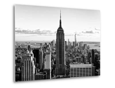 Downtown at Sunset, Empire State Building and One World Trade Center (1WTC), Manhattan, New York-Philippe Hugonnard-Metal Print