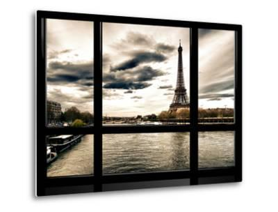 Window View, Special Series, the Eiffel Tower and Seine River Views, Paris, France, Europe-Philippe Hugonnard-Metal Print