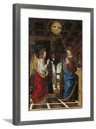 Annunciation- Bergognone-Framed Giclee Print