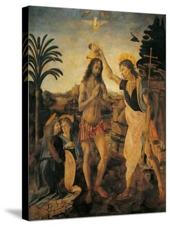 The Baptism of Christ-Andrea Verrocchio-Stretched Canvas Print
