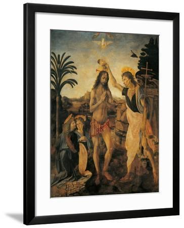 The Baptism of Christ-Andrea Verrocchio-Framed Giclee Print