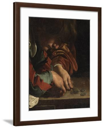 The Calling of St Matthew-Caravaggio-Framed Giclee Print