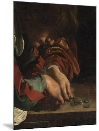The Calling of St Matthew-Caravaggio-Mounted Giclee Print
