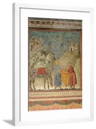 The Gift of the Mantle-Giotto di Bondone-Framed Giclee Print