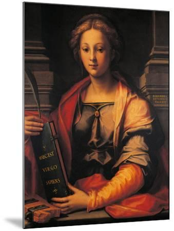 Saint Catherine of Alexandria-Giovanni Antonio Sogliani-Mounted Giclee Print