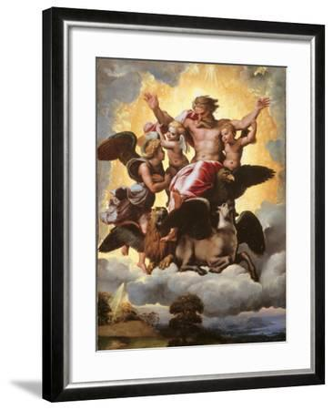 The Vision of Ezekiel-Raffaello Sanzio-Framed Giclee Print