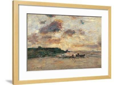 The Coast at Trouville-Eug?ne Boudin-Framed Giclee Print