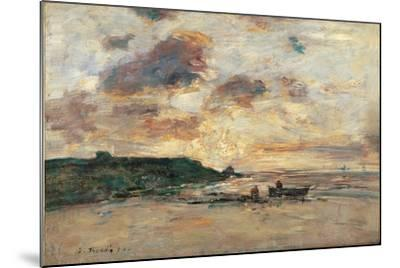 The Coast at Trouville-Eug?ne Boudin-Mounted Giclee Print
