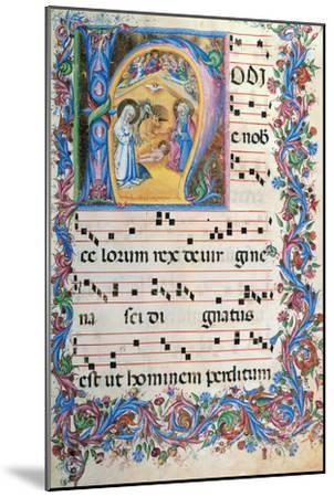 Day Hours and Night Hours Antiphonary From First Saturday of Advent To IV Sunday After Epiphany--Mounted Giclee Print