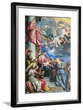 The Mystic Marriage of St Catherine-Veronese-Framed Giclee Print
