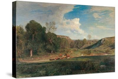 After the Rain-Antonio Fontanesi-Stretched Canvas Print