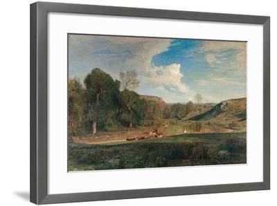 After the Rain-Antonio Fontanesi-Framed Giclee Print