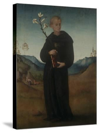 St. Nicholas of Tolentino-Francesco Ubertini (Bachiacca)-Stretched Canvas Print
