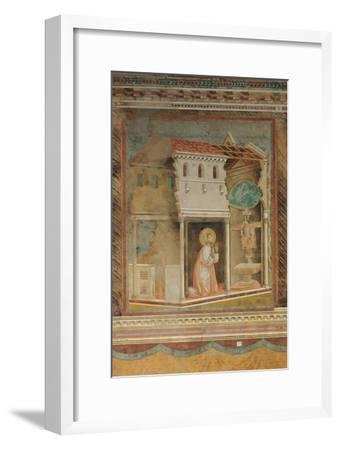 The Prayer Before the Crucifix of St Damian-Giotto di Bondone-Framed Giclee Print