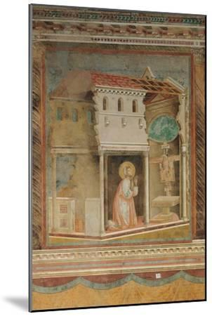 The Prayer Before the Crucifix of St Damian-Giotto di Bondone-Mounted Giclee Print
