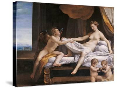 Jupiter and Dana-Correggio-Stretched Canvas Print